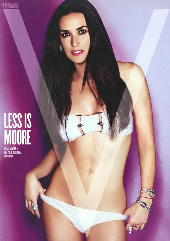 Demi Moore V Magazine