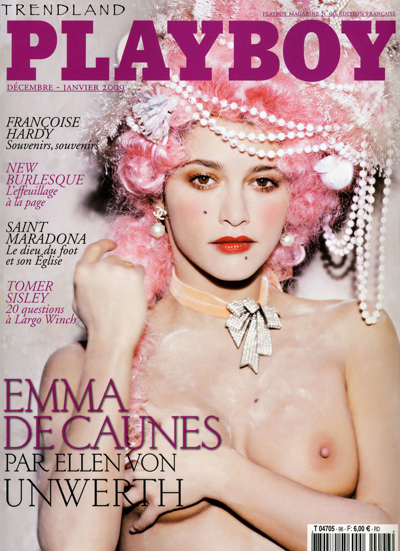 emma decaunes french playboy1 cover Emma De Caunes exposing her big tits and nipple slip