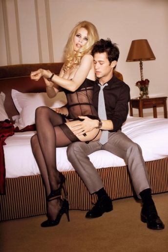 Ellen von Unwerth Joseph Gordon-Levitt starring Claudia Schiffer GQ Photography