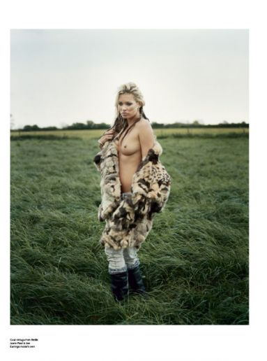 Iain McKell Kate Moss V Magazine Photography