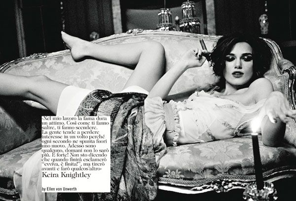 Ellen von Unwerth Keira Knightley Vogue Italia Photography