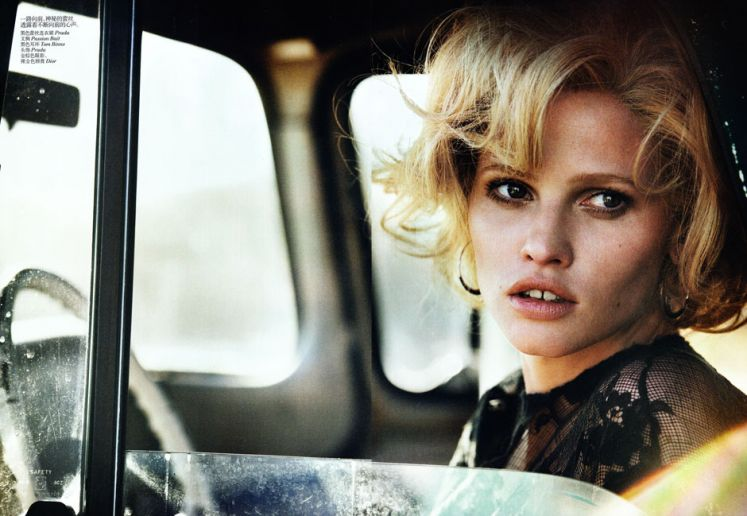 Lara Stone Peter Lindbergh Vogue China Photography