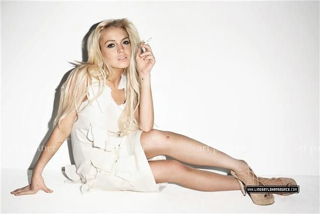 Lindsay Lohan Terry Richardson purple Magazine Photography