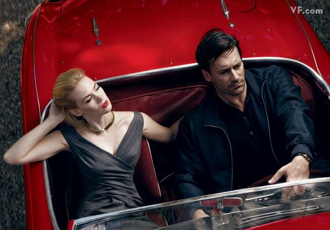 Annie Leibovitz January Jones Jon Hamm Vanity Fair Photography