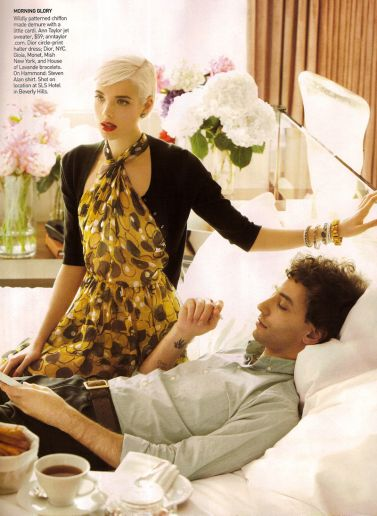 Agyness Deyn Mikael Jansson Vogue US Fashion Photography